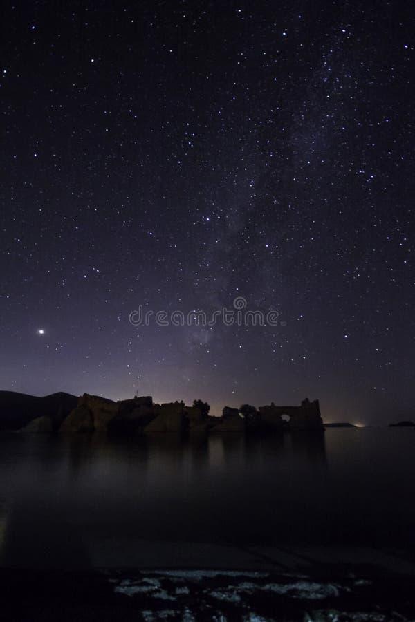 Perseid gwiazdy i zdjęcie royalty free