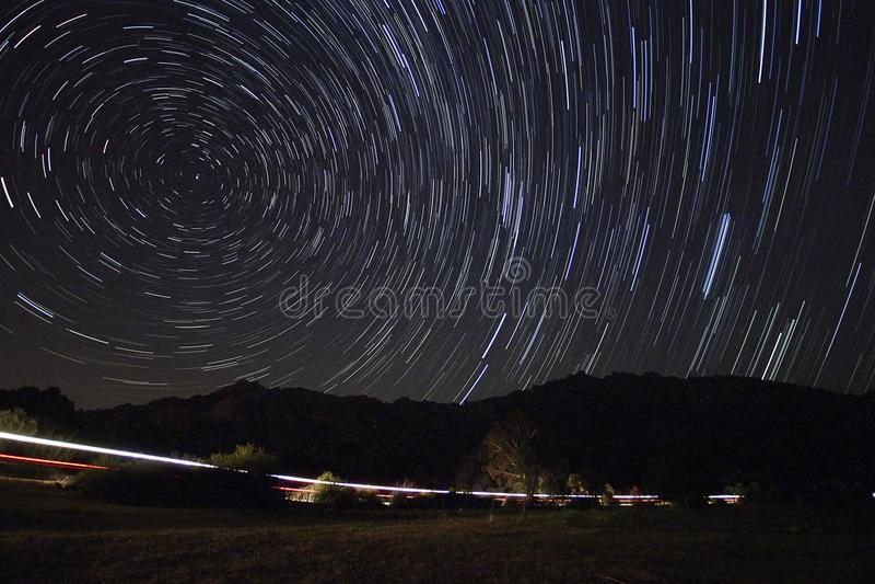 Perseid meteorowa prysznic zdjęcie stock
