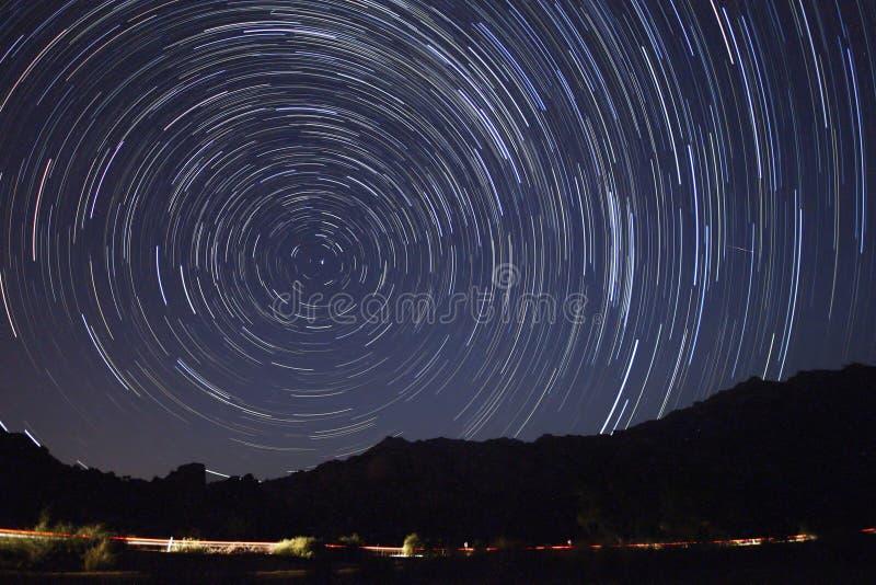 Perseid meteorowa prysznic zdjęcie royalty free