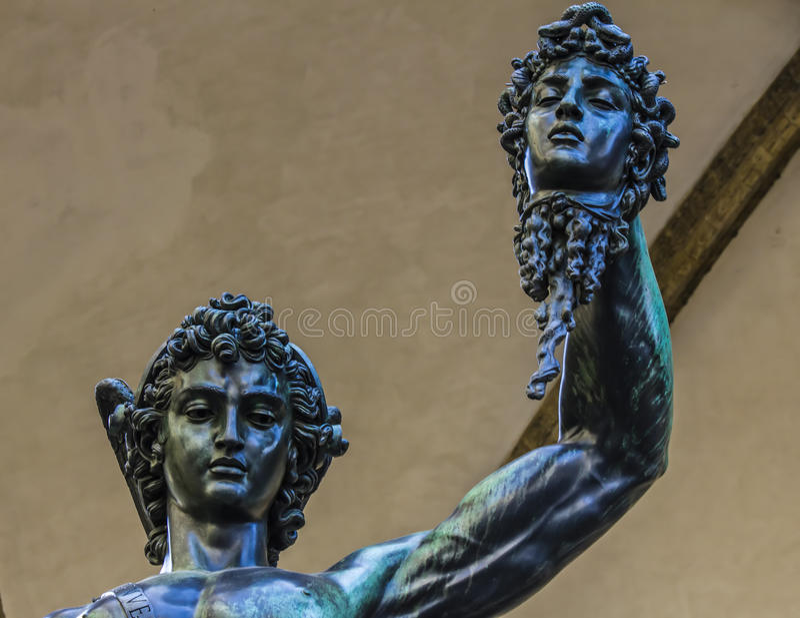 Perseo meduzy statua zdjęcia stock