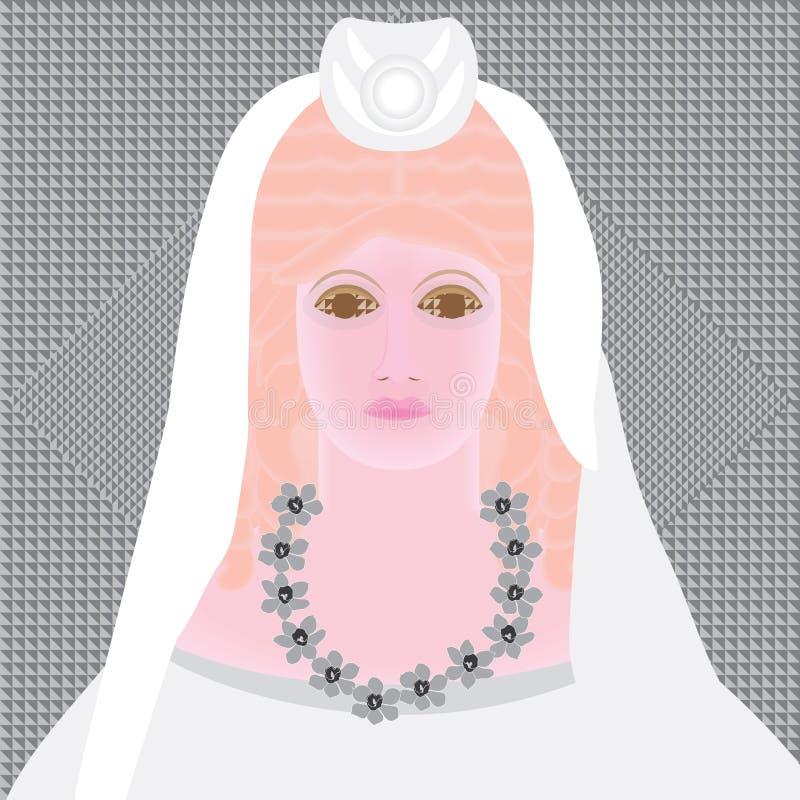 Persephone mörker royaltyfri illustrationer