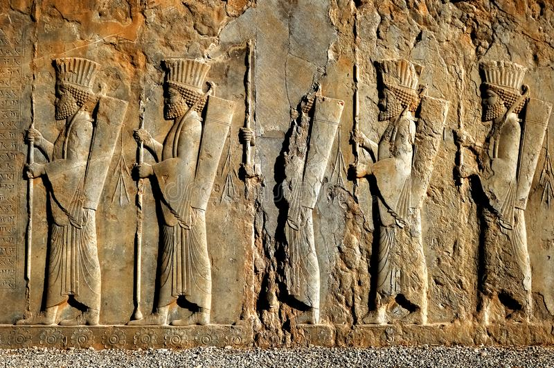 Persepolis é a capital do reino antigo do Achaemenid vista de Irã Pérsia antiga fotografia de stock royalty free