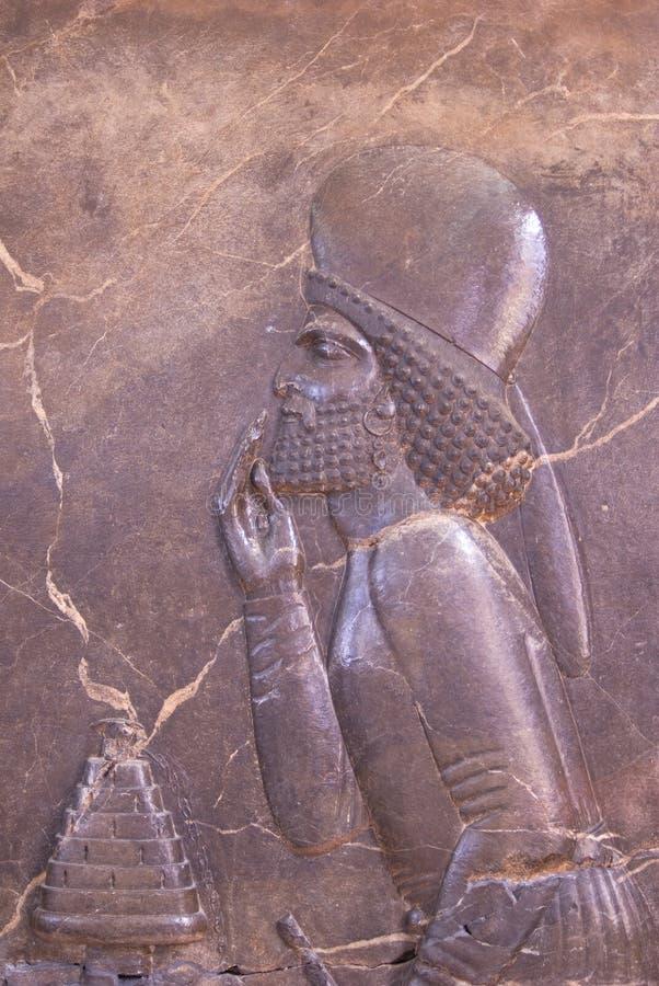 Persepolis antyczni bareliefy obraz stock