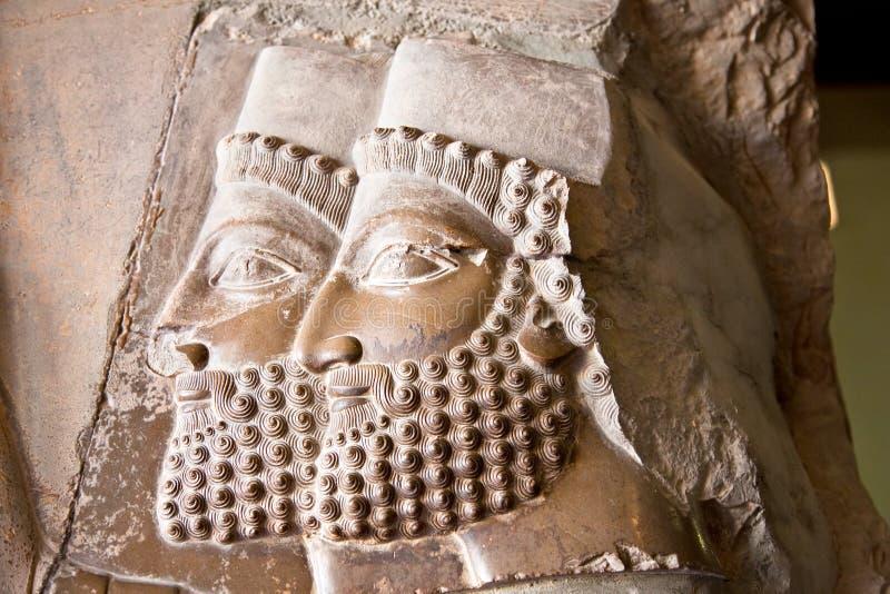 Persepolis antyczni bareliefy, Iran zdjęcia stock