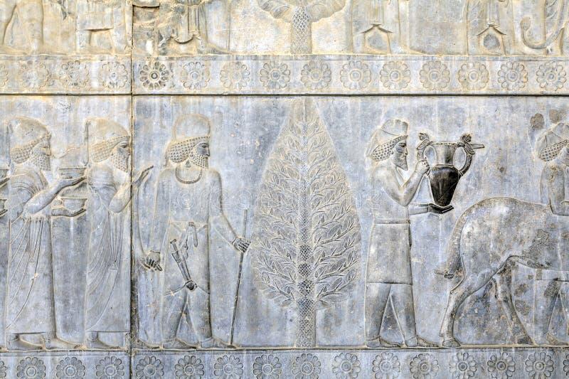 Persepolis antyczny kapitał Achaemenid imperium, barelief na w zdjęcia royalty free