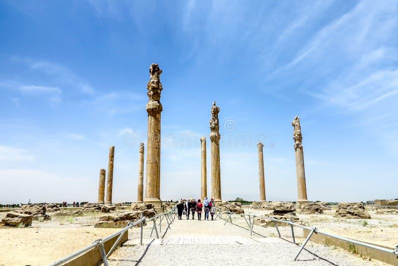 Persepolis Dziejowy miejsce 16 fotografia royalty free
