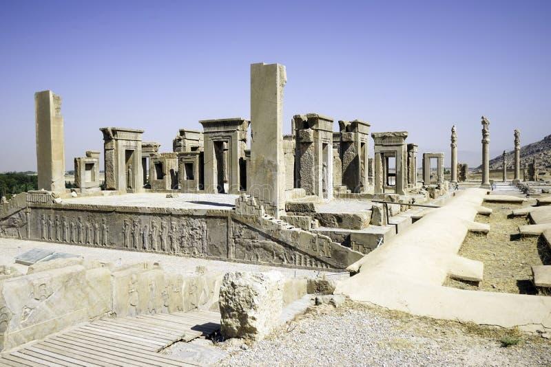 Persepolis en el norte de Shiraz, Irán Ha llevado a su designación como sitio del patrimonio mundial de la UNESCO imágenes de archivo libres de regalías