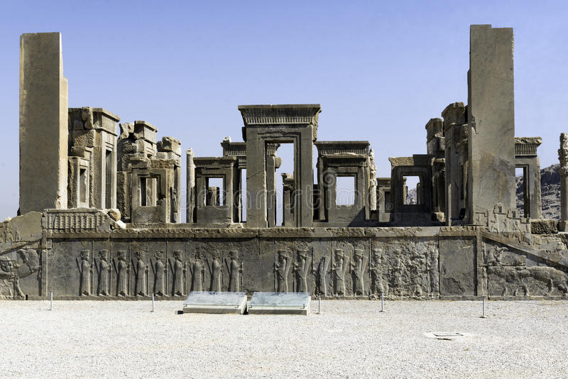 Persepolis en el norte de Shiraz, Irán Ha llevado a su designación como sitio del patrimonio mundial de la UNESCO fotos de archivo