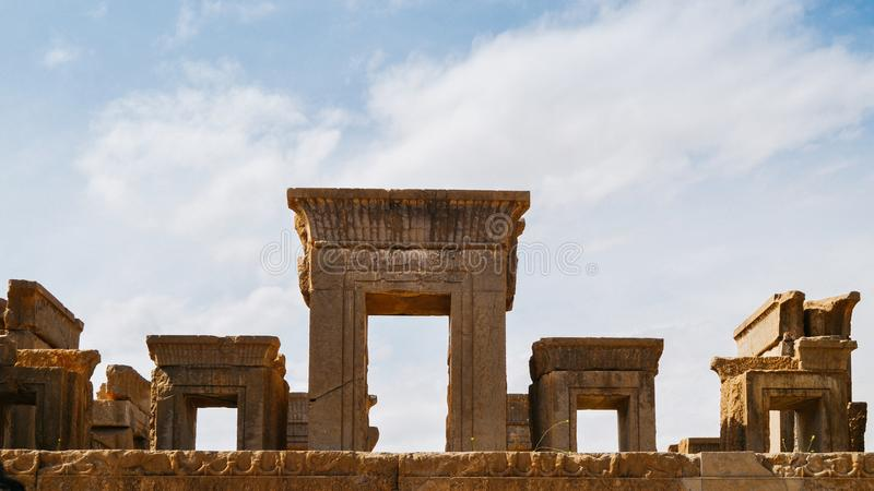 Persepolis era la capitale cerimoniale dell'impero di achemenide Ca 550 330 BC è situato 60 chilometri a nordest della città di S immagine stock