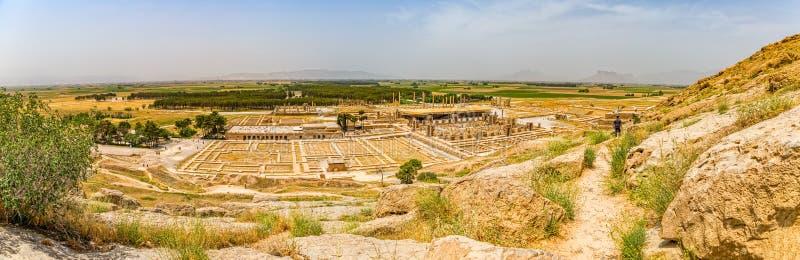Persepolis fördärvar bred panorama fotografering för bildbyråer