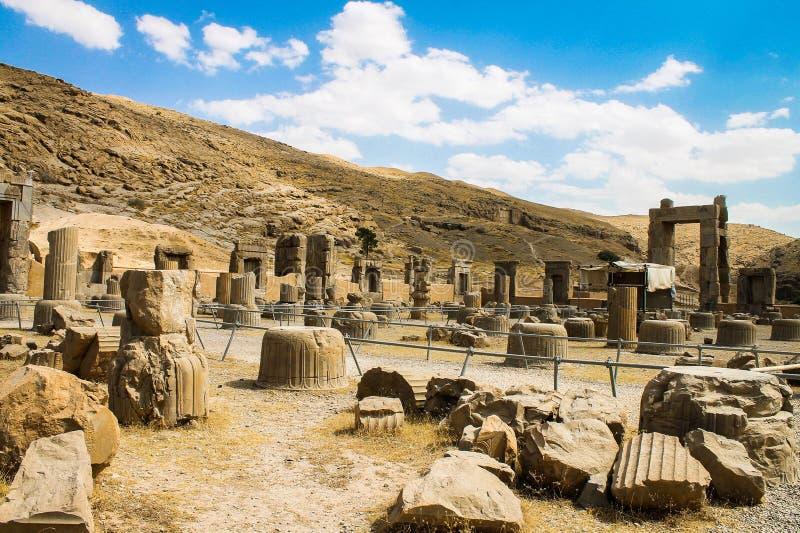 Persepolis fördärvar, Takht-e-Jamshid, Iran arkivfoto