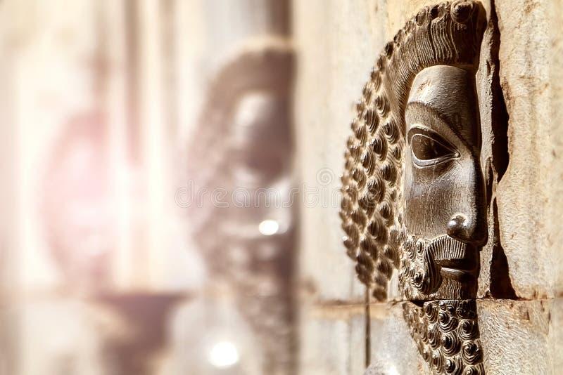 Persepolis is het kapitaal van het oude Achaemenid-koninkrijk gezicht van Iran Oud Perzië stock foto