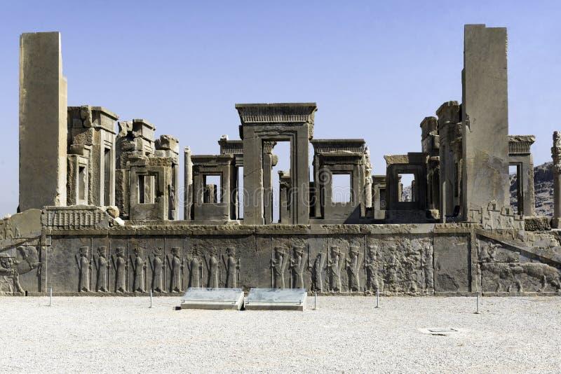 Persepolis in het noorden van Shiraz, Iran Het heeft geleid tot zijn benoeming als Unesco-Plaats van de Werelderfenis stock foto's