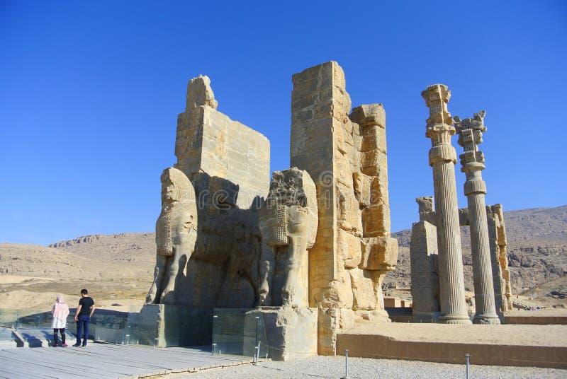 Persepolis Ir? Shiraz, portal foto de stock royalty free