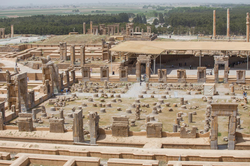 Persepolis, Iran. Persepolis, the ceremonial capital of the Achaemenid Empire, in Iran stock photos