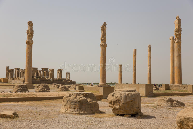 Persepolis, Iran. Persepolis, the ceremonial capital of the Achaemenid Empire, in Iran stock photo