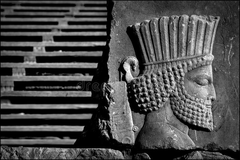 Persepolis jest kapitałem antyczny Achaemenid królestwo widok Iran Antyczny Persia obrazy royalty free
