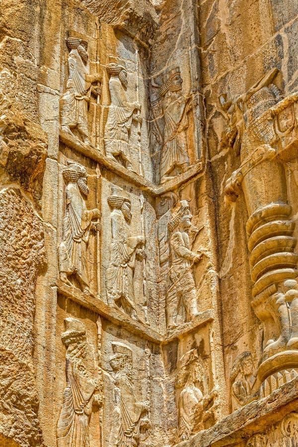 Persepolis kunglig gravvalvlättnad arkivbild