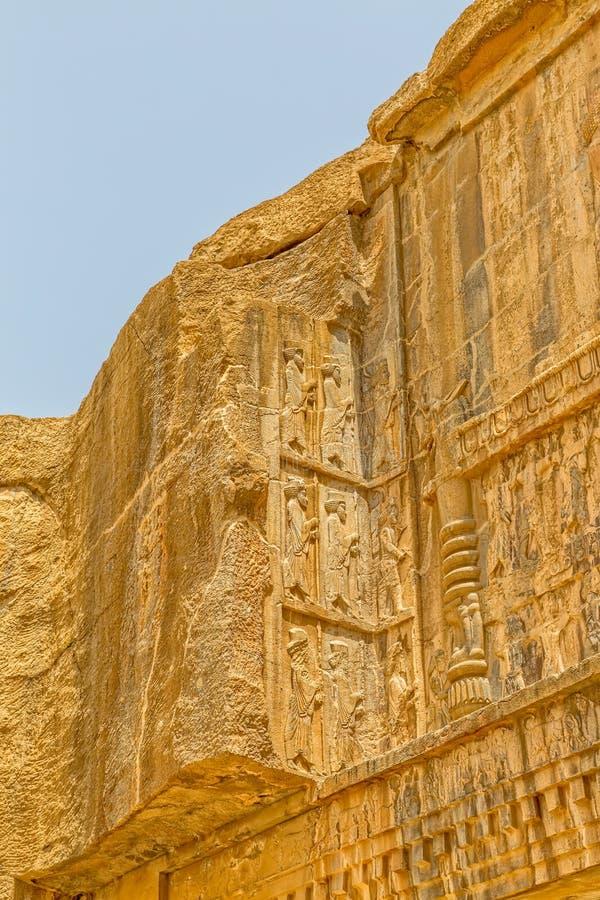 Persepolis kunglig gravvalvlättnad fotografering för bildbyråer