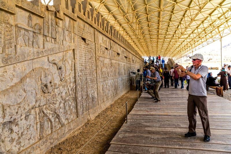Persepolis lättnadsvägg royaltyfri bild