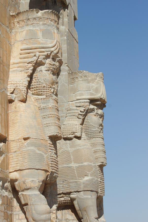 Persepolis nästan Shiraz, Iran, Asien royaltyfri bild