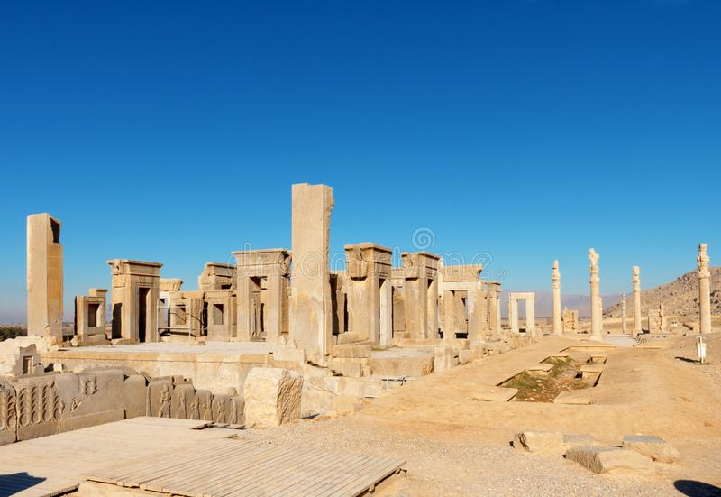 Persepolis, pałac Darius obrazy royalty free