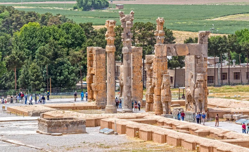 Persepolis port av nationer arkivfoton