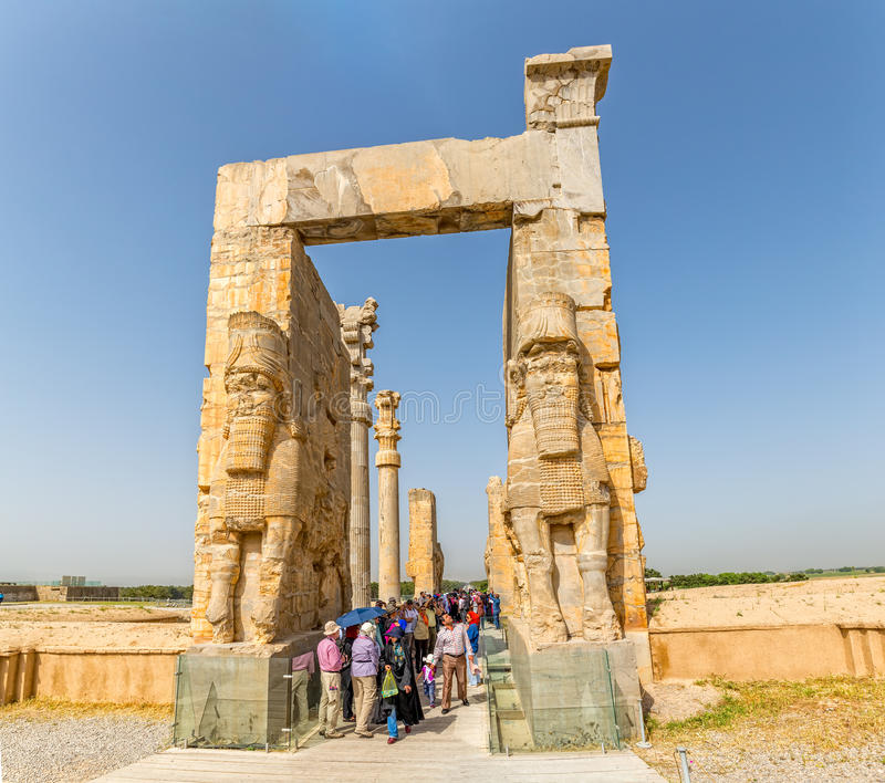 Persepolis port av nationer arkivbild