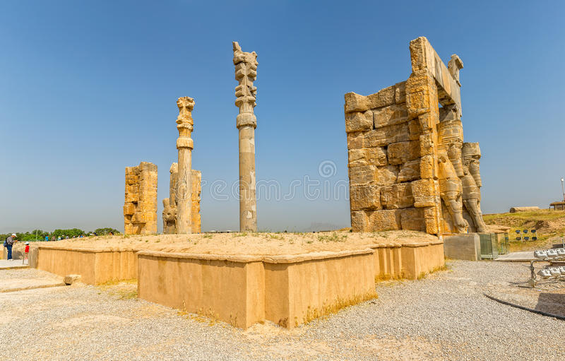 Persepolis port av nationer royaltyfri foto