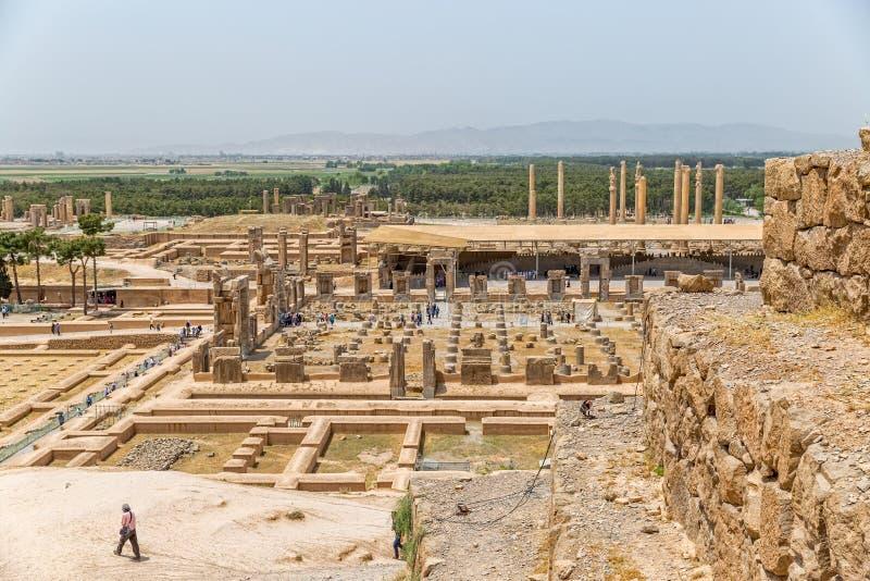 Persepolis stadspanorama royaltyfri foto