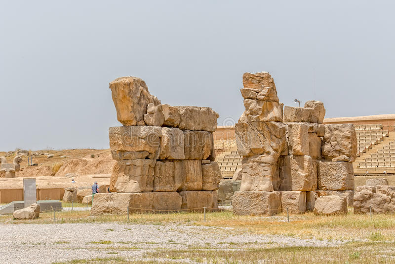 Persepolis väggar fördärvar royaltyfri bild