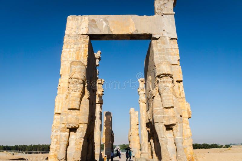 Persepolis w Iran Unesco Światowego Dziedzictwa Miejsce obraz stock