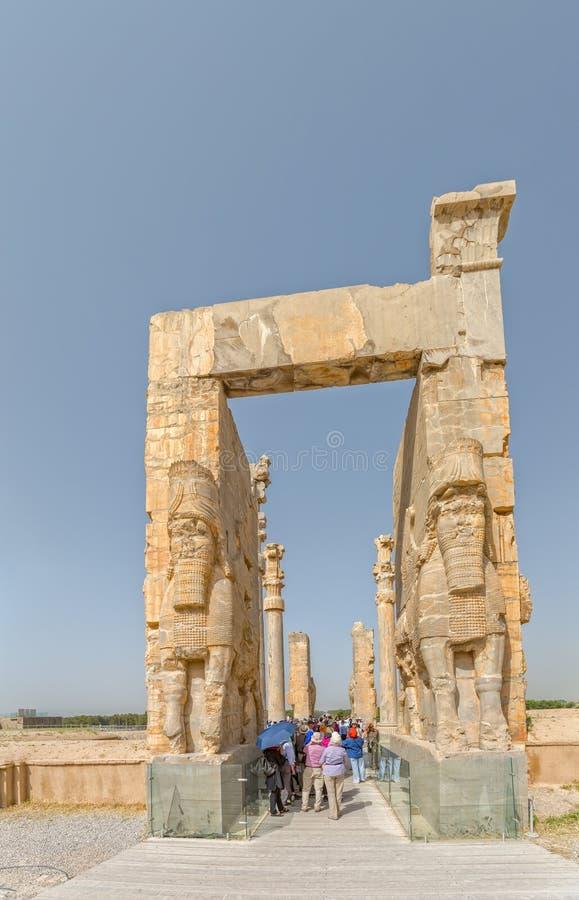 Persepolis Xerxes Gate royaltyfri fotografi