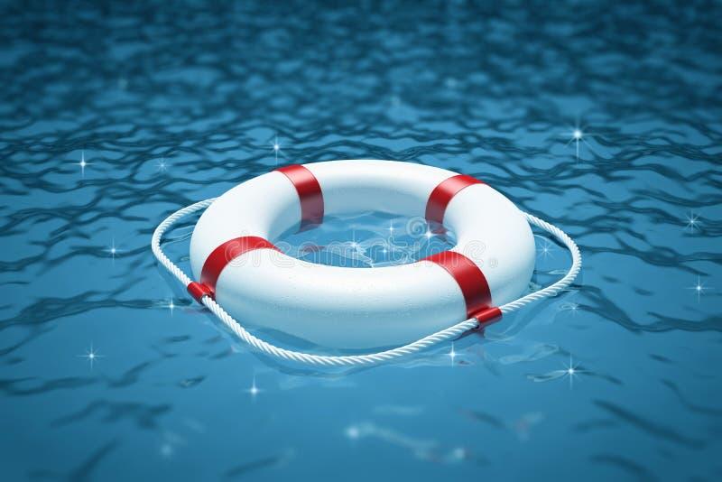 Perserver de la vie en mer illustration libre de droits