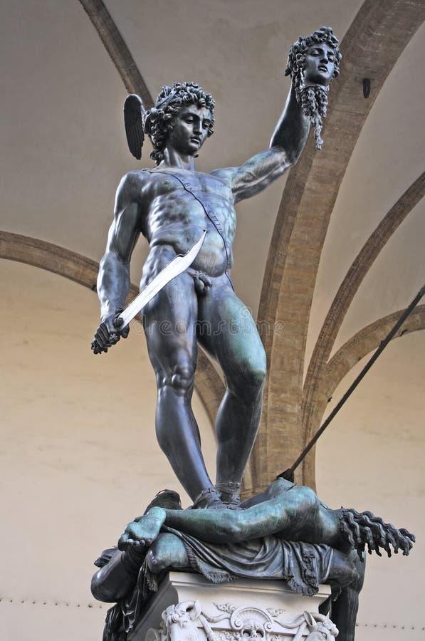 Perseus με το Medusa κεφάλι στη Φλωρεντία στοκ εικόνα