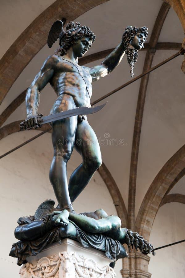 Perseus с головкой Medusa стоковая фотография rf