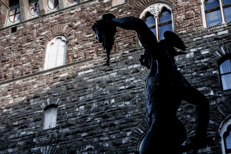 Perseus с головой Медузы стоковое изображение rf