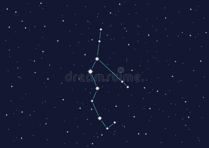 perseus de constellation illustration libre de droits
