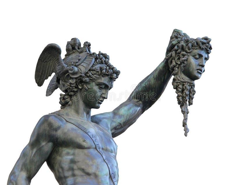 Perseus die het hoofd van Kwal, Florence, Italië houden royalty-vrije stock afbeelding