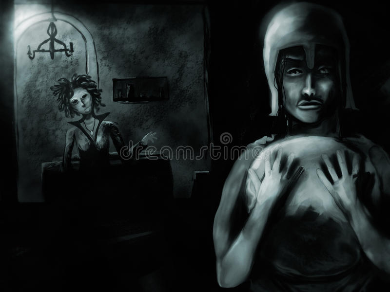 Download Perseus And The Gorgon stock illustration. Illustration of painterly - 20025236
