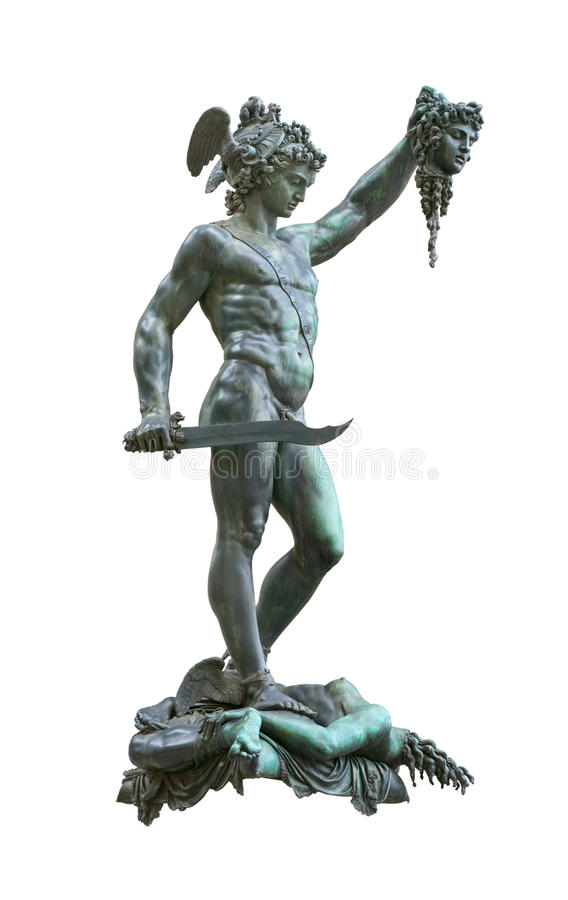Perseus holding head of Medusa royalty free stock image