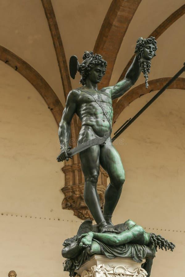 Perseus met het hoofd van kwal, Florence, Italië royalty-vrije stock fotografie