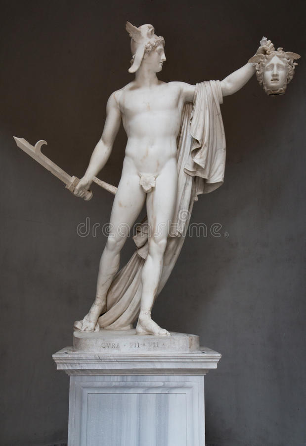 Perseus triomphant images stock
