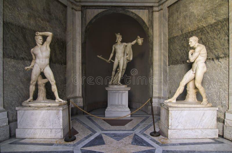 perseus vatican музеев стоковые фотографии rf