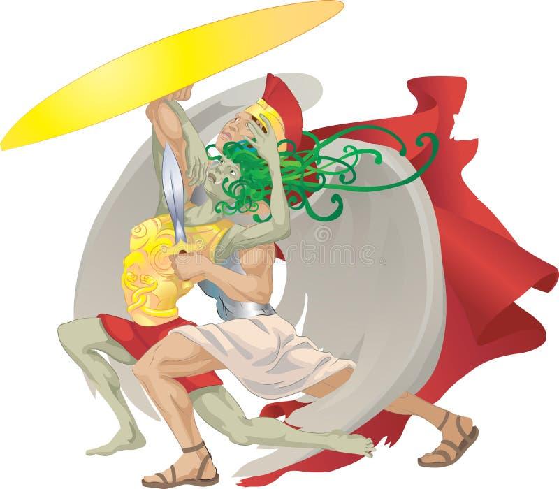 perseuszu meduzy gorgon royalty ilustracja