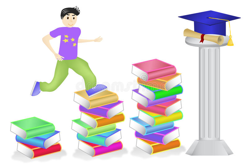 Perseverance towards goal ( DIPLOMA ) stock illustration