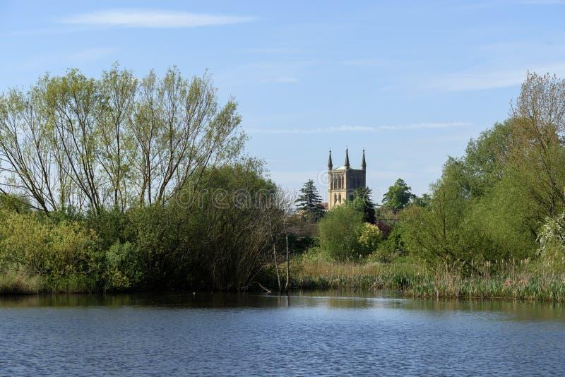 Pershoreabdij in Worcestershire royalty-vrije stock afbeeldingen