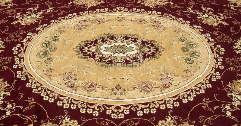Persian carpet and rug. Front side of Iranian carpet and rug in a nice color and design stock photo