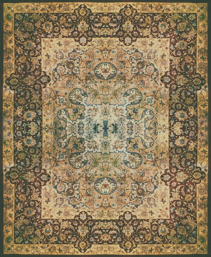 Persian Carpet Texture Abstract Ornament Round Mandala