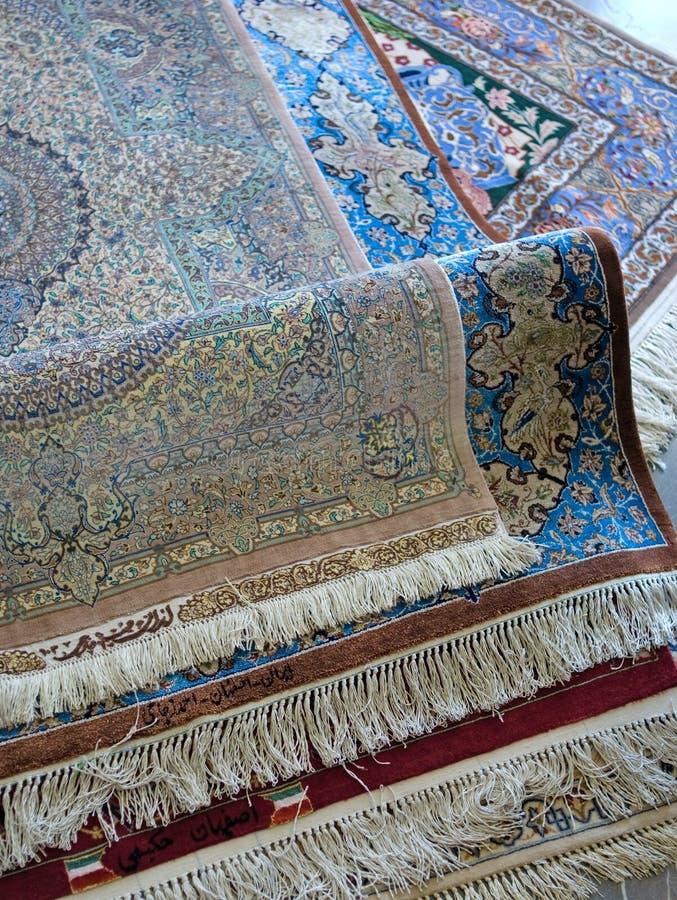 Persian carpets royalty free stock photo